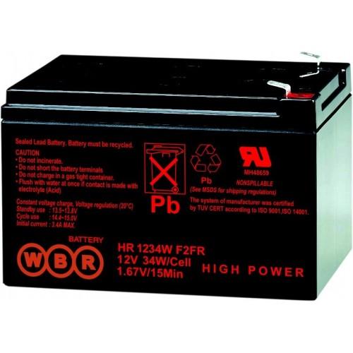Аккумуляторная батарея WBR HR1234WF2 (12V 9Ah) WBRHR1234WF2