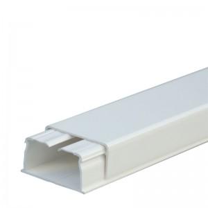 Мини-плинтус DLPlus 40x20 - 1 секция - длина 2,10 м - белый
