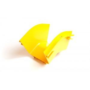 Внешний изгиб 45° оптического лотка 120 мм, желтый