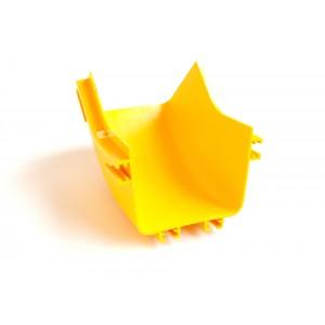Внутренний изгиб 45° оптического лотка 120 мм, желтый