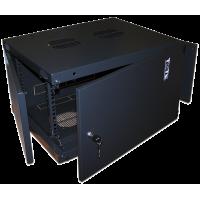 """Шкаф 18U 19"""" настенный 550x600, TWT Next, металлическая дверь, черный, разборный"""