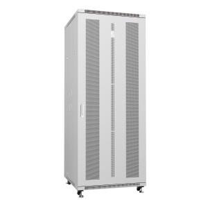"""Cabeus Шкаф 19"""" 42U напольный телекоммуникационный 800x800 серый, разборный, дверь перфорированная"""