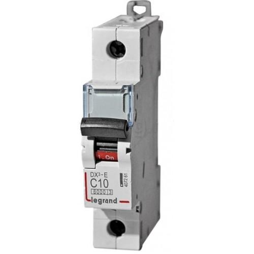Автоматический выключатель Legrand  DX3-E C10 1П 6kA (407261) 407261