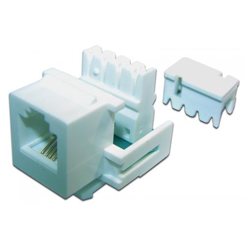 Модуль Keystone телефонный, RJ11 Port, UTP, 110, TWT-OK12UTP/TEL-WH TWT-OK11UTP-110WH