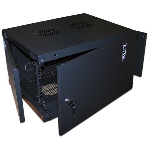 """Шкаф TWT настенный 19"""" Next, 6U 550x450, металлическая дверь, черный TWT-CBWNM-6U-6x4-BK"""