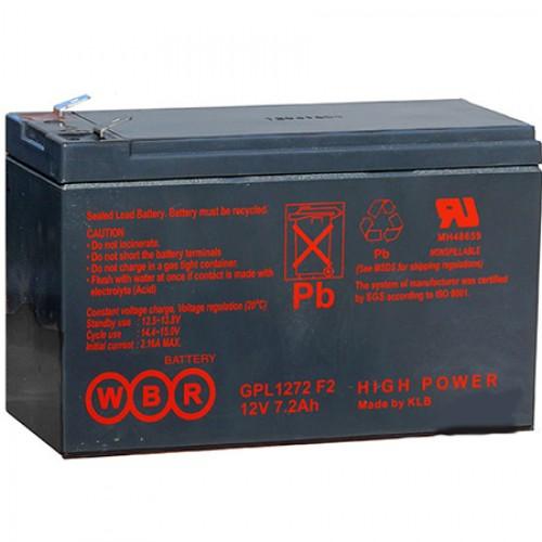 Аккумуляторная батарея WBR GP1272 (28W) (12V 7.2Ah) WBRGP1272 (28W)