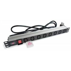 """Блок розеток PDU 19"""" 8 розеток С13, 16А, с выключателем, шнур 3м"""