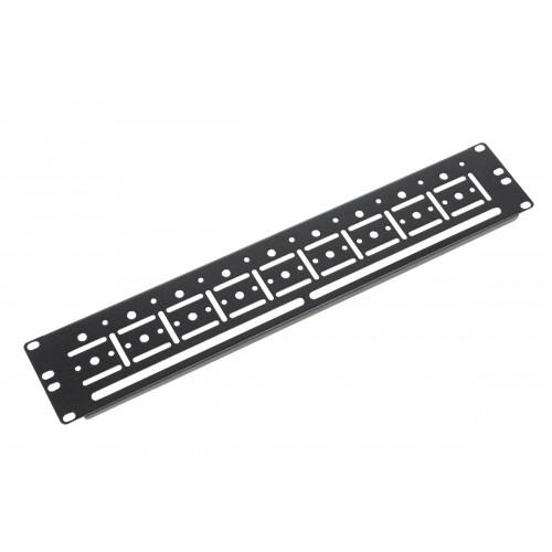 """Органайзер кабельный горизонтальный 19"""" для крепления стяжек 2U, цвет черный ГКО-У-2-9005"""