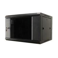 """MDX-SH-6U60-60-GS-BK Шкаф 19"""" 6U настенный, 600 мм, дверь стекло, черный (замена MDX-CW2-6U-6х6)"""