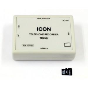 Автономное двухканальное устройство записи телефонных переговоров с сетевым доступом TR2NS