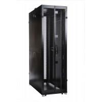 Шкаф ЦМО 48U серверный ПРОФ напольный 600x1200 дверь перфор., задние двойные перфор., в сборе