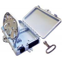 Настенный распределительный бокс на 4 порта SC, наружной установки, IP65