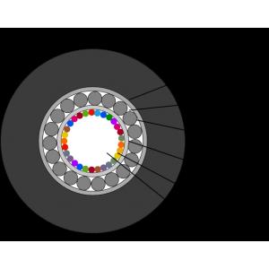Кабель оптический 12 волокон одномод, бронированный стал. проволокой, алюм. лента, PE, внешний