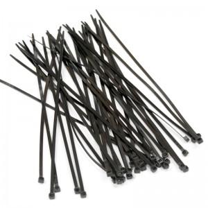 Стяжка нейлоновая неоткрывающаяся 150x3.6мм, черная, outdoor, устойчивость к UV (100 шт)