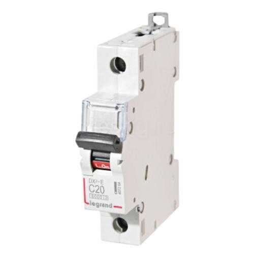 Автоматический выключатель Legrand  DX3-E C20 1П 6kA (407264) 407264