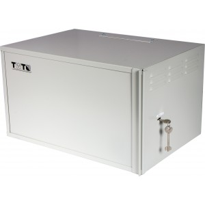 """Шкаф 19"""" TWT антивандальный пенального типа, 9U 600x400 мм, серый"""