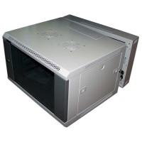 """Шкаф 19"""" 27U  настенный 600x600 TWT 3-секционный, стеклянная дверь"""