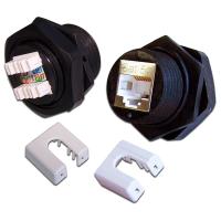 Модуль Keystone индустриальный, RJ45, cat.5e, STP, 180 градусов, IP67