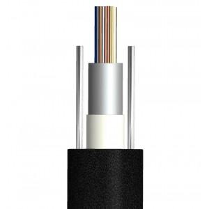 Кабель 8 волокон, одномод, внешний, небронированный, loose tube, 2 силов.эл. steel wire, GYXY, PE