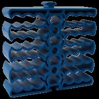 Кабельная гребенка на 24 кабеля, синяя