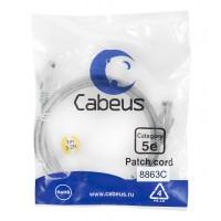 Cabeus PC-UTP-RJ45-Cat.5e-1m-LSZH Патч-корд U/UTP, категория 5е, 2xRJ45/8p8c, неэкранированный