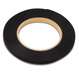 Рулон липучки, 5м х 9мм, цвет черный