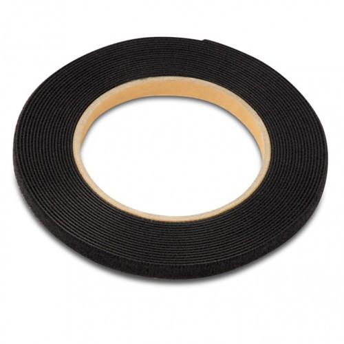 Рулон липучки, 5м х 9мм, цвет черный WASR-5x9-BK