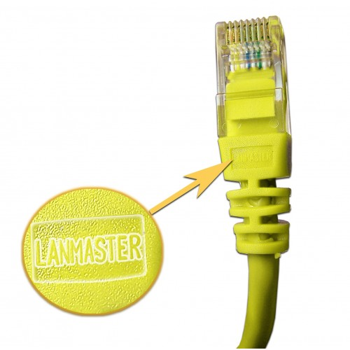 Патч-корд RJ45 UTP кат 5Е шнур медный LANMASTER 10.0 м желтый LAN-45-45-10-YL