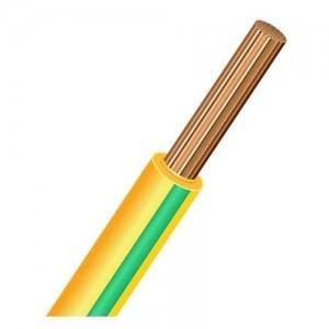 Провод ПУГВ (ПВ-3) 1х6 желто-зеленый