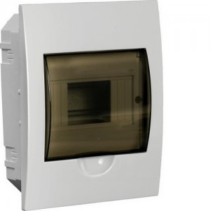 Бокс встраиваемый ЩРВ-П-6, 6 модулей, прозрачная дверь, пластик, IP41, ИЭК