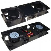Блок 2-х вентиляторов в крышу настенного шкафа Pro