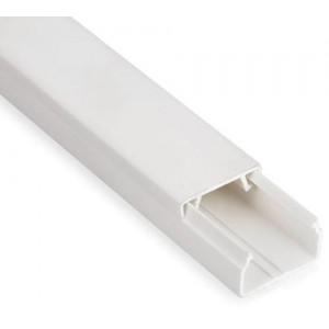 Мини-канал Metra - 20x12 - 2 метра - с крышкой - белый