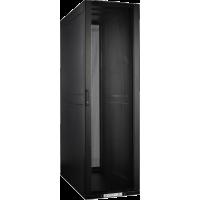 Шкаф LANMASTER DCS 42U 600x1070 мм, с перфорированными дверьми, без боковых панелей, черный