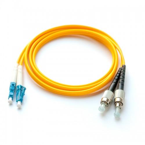 Патч-корд оптический дуплексный LC-FC одномод 1м MDX-2LC-2FC/1-S