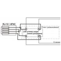Шнур тестовый для плинтов, 4-х полюсный LSA/Крокодил, 1,5м TWT-LSA-P4-12-1.5m