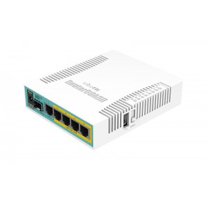 Маршрутизатор MikroTik RB960PGS hEX PoE with 800MHz CPU, 128MB RAM, 5x Gigabit LAN