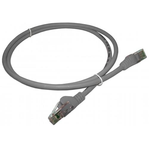 Патч-корд RJ45 UTP кат 5e шнур медный LANMASTER 2.0 м LSZH серый LAN-PC45/U5E-2.0-GY
