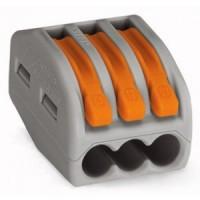 Клемма на 3 проводника (с рычагами) 3x0,08-4/2,5 мм2 (WAGO)