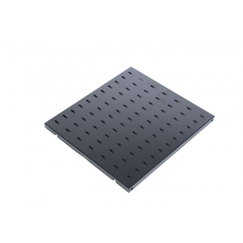 Полка перфорированная, глубина 580 мм, цвет черный СВ-58-9005