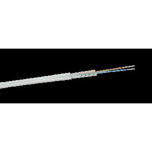 Дроп кабель оптический, 4 волокна одномод, универсальный FTTH, steel wire, нг(А)-LS, белый