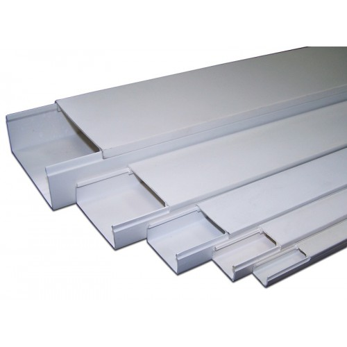 Короб 100х60 со съемной перегородкой и крышкой (2м) TWT TWT-CT100x60/S-WH
