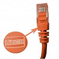Патч-корд RJ45 UTP кат 5Е шнур медный LANMASTER 1.5 м оранжевый