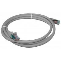 Патч-корд RJ45 кат 5e FTP шнур медный экранированный LANMASTER 2.0 м LSZH серый