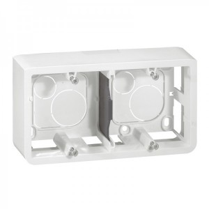 Накладная монтажная коробка - Mosaic - для суппорта Кат. № 0 802 52 - гл. 40 мм - 4/5 или 2x2 модуля