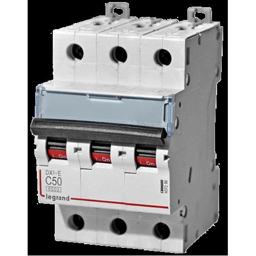 Автоматический выключатель Legrand  DX3-E C50 3П 6kA (407296) 407296