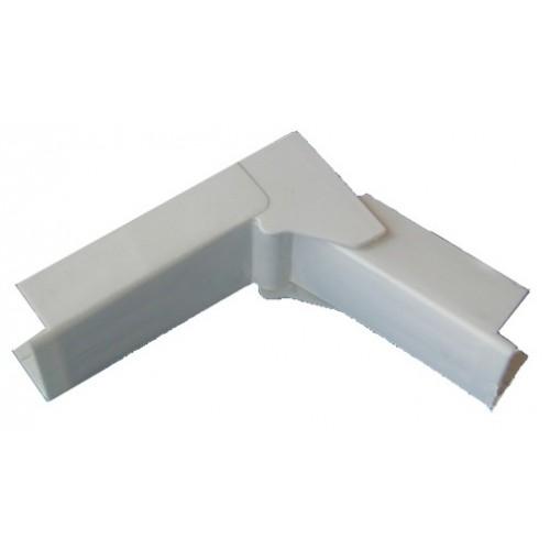 Угол внутренний/внешний переменный - для мини-плинтусов DLPlus 20x12,5 - белый 30221