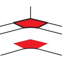 Угол внутренний переменный от 80° до 100° - для кабель-каналов DLP 50х150 - белый