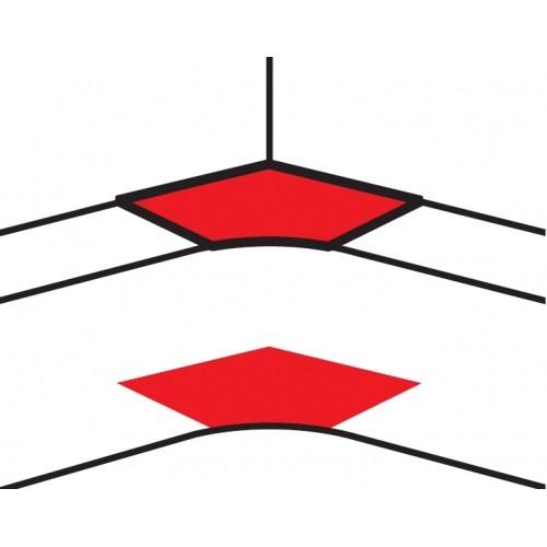 Угол внутренний переменный от 80° до 100° - для кабель-каналов DLP 50х150 - белый 10606