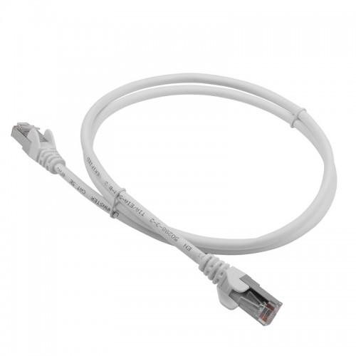 Патч-корд RJ45 кат 6A FTP шнур медный экранированный LANMASTER 1.0 м LSZH белый LAN-PC45/S6A-1.0-WH