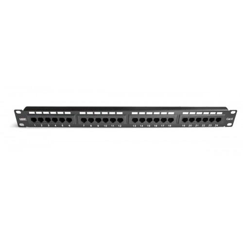 """Патч-панель  24 порта 19  """" MDX RJ45 UTP категория 6 1U MDX-PPR-UTP6-24"""